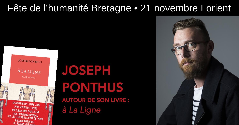 Rencontre avec Joseph Ponthus à Lorient